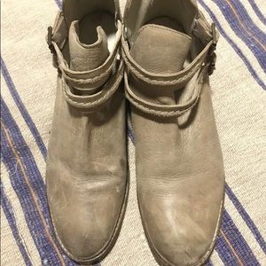 Free People Leather Ankle Boots sz 10